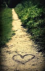 heart on path