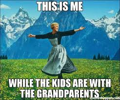 kids at grandparents