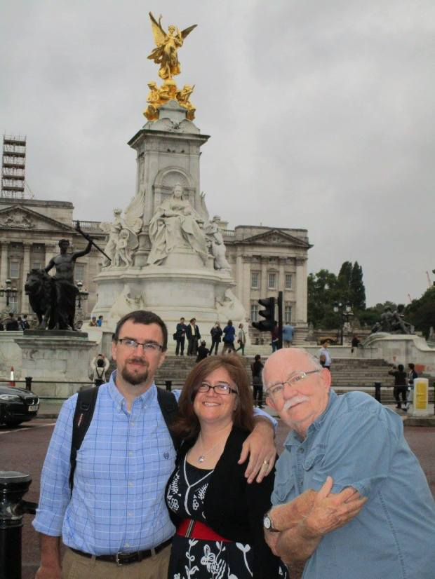 chris, dad and i london